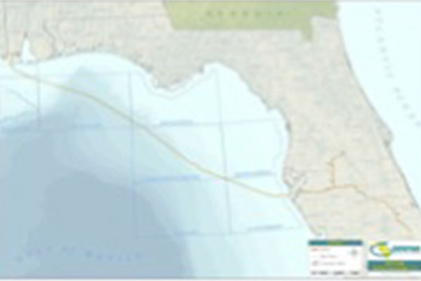 Gulfstream Natural Gas System, 400 miles of 36